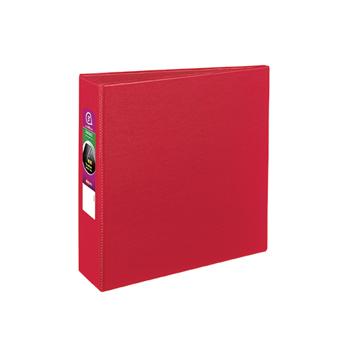 """Durable Binder, 3"""" Slant Rings, 600-Sheet Capacity, DuraHinge®, Red"""