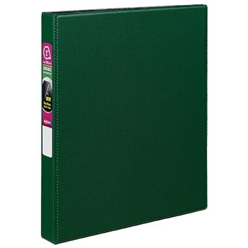 "Avery® Durable Binder, 1"" Slant Rings, 220-Sheet Capacity, DuraHinge®, Green"