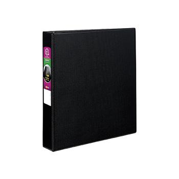 """Durable Binder, 1 1/2"""" Slant Rings, 375-Sheet Capacity, DuraHinge®, Black"""