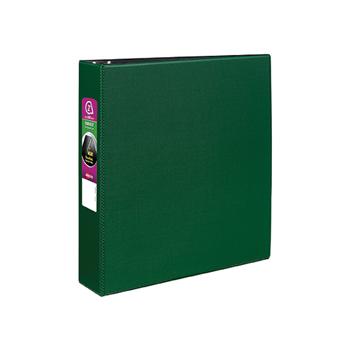 "Avery® Durable Binder, 2"" Slant Rings, 500-Sheet Capacity, DuraHinge®, Green"
