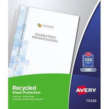 Avery® Economy Recycled Sheet Protectors, Acid-Free, 100/BX