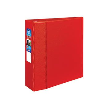 "Avery® Heavy-Duty Binder, 4"" One-Touch Rings, 780-Sheet Capacity, DuraHinge®, Red"