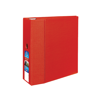 """Avery® Heavy-Duty Binder, 5"""" One-Touch Rings, 1,050-Sheet Capacity, DuraHinge®, Red"""