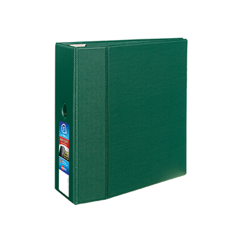 "Avery® Heavy-Duty Binder, 5"" One-Touch Rings, 1,050-Sheet Capacity, DuraHinge®, Green"