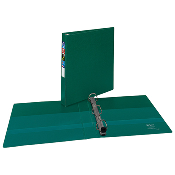 "Avery® Heavy-Duty Binder, 1"" One-Touch Rings, 275-Sheet Capacity, DuraHinge®, Green"