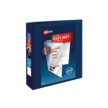 """Avery® Heavy-Duty View Binder, 2"""" One-Touch Rings, 540-Sheet Capacity, DuraHinge®, Navy Blue"""