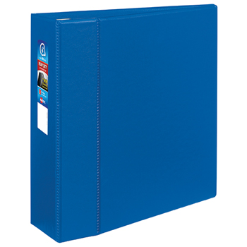 """Avery® Heavy-Duty Binder, 4"""" One-Touch Rings, 780-Sheet Capacity, DuraHinge®, Blue"""