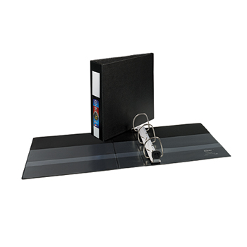 "Avery® Heavy-Duty Binder, 3"" One-Touch Rings, 670-Sheet Capacity, Label Holder, DuraHinge®, Black"