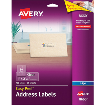 Avery Easy Peel Inkjet Mailing Labels