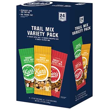 Trail Mix Variety Pack, Assorted Flavors, 24/BX