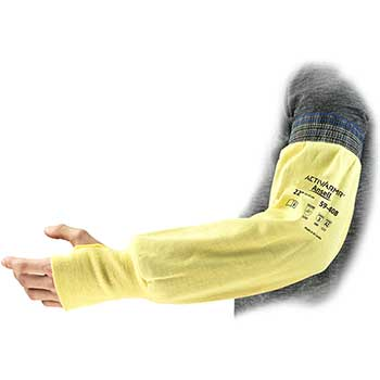 "Ansell ActivArmr®  59-408 Sleeves, Yellow, 22"""