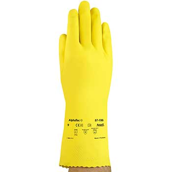 Ansell Edge™  FL 100 87-198 Industrial Glove, Chemical/Liquid Resistant, Size 8, 12/PK