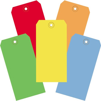 """W.B. Mason Co. Shipping Tags, 13 Pt., 6 1/4"""" x 3 1/8"""", Assorted Color, 1000/CS"""
