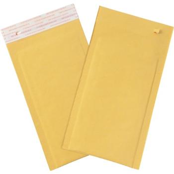 "W.B. Mason Co. Self-Seal Bubble Mailers w/Tear Strip, #00, 5"" x 10"", Kraft, 250/CS"