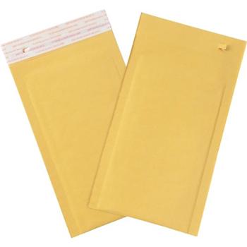 "W.B. Mason Co. Self-Seal Bubble Mailers w/Tear Strip, #0, 6"" x 10"", Kraft, 250/CS"