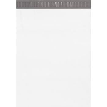 "W.B. Mason Co. Poly Mailers, 14 1/2"" x 19"", White, 100/CS"