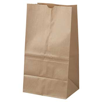 Duro Bag Kraft Husky Grocery Bags, Heavy-Duty, Squat, 20 lb., 400/PK
