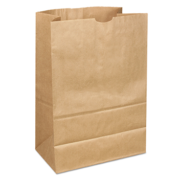 Duro Bag Kraft Paper Bags, Extra Heavy-Duty, 15 lb., Natural, 500/Carton