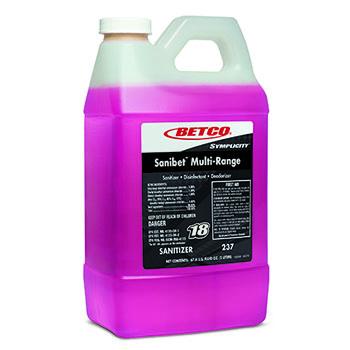 Betco® FastDraw® Sanibet™ Multi-Range Sanitizer Disinfectant Deodorizer, 67.6 oz., Unscented, 4/CT