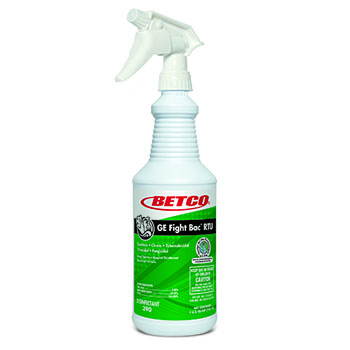 Betco® GE Fight Bac™ RTU Disinfectant, 32. oz. Bottles, 12/CS