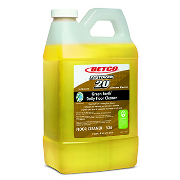 Green Earth® FastDraw® Daily Floor Cleaner, 67.6 oz. Bottle, Unscented, 4/CT
