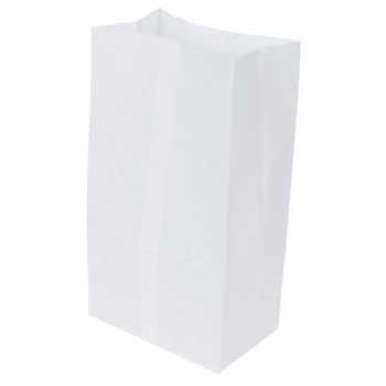 "Bagcraft Papercon® Dubl-Wax® Bakery Bag, Waxseal, #6, 6"" x 3 3/8"" x 11 1/8"", White, 1000/CT"