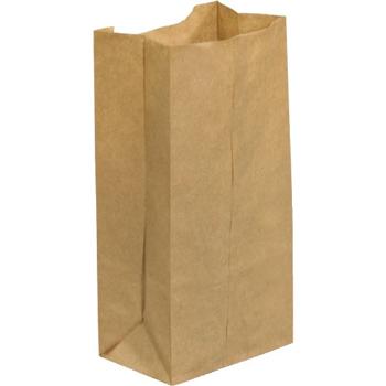 "W.B. Mason Co. Grocery Bags, 4 5/16"" x 2 7/16"" x 7 7/8"", Kraft, 500/CS"