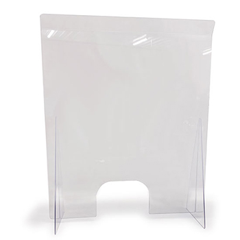"Countertop Easy Shield, 24"" W x 14"" D x 42"" H, Clear Opening- 8""H x 12"" W"
