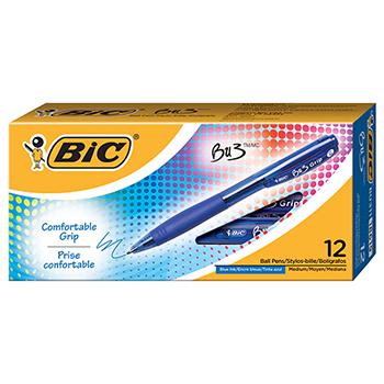 BU3 Retractable Ballpoint Pen, Bold, 1.0mm, Blue, DZ