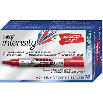 Advanced Tank Dry Erase Marker, Chisel Tip, Red