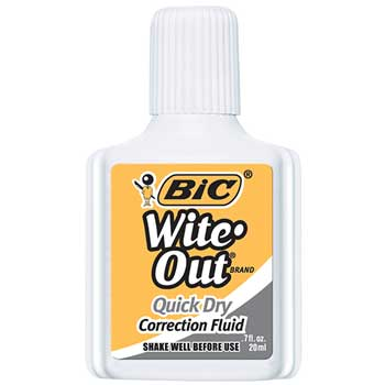 BIC® Wite-Out Quick Dry Correction Fluid, 20 ml Bottle, White