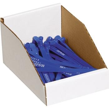 """W.B. Mason Co. Open Top Bin Boxes, 6"""" x 9"""" x 4 1/2"""", White, 25/BD"""