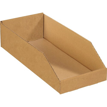 "Open Top Bin Boxes, 12"" x 24"" x 4-1/2"", Kraft, 50/BD"