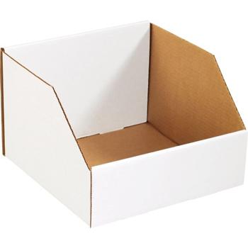 """W.B. Mason Co. Jumbo Open Top Bin Boxes, 18"""" x 18"""" x 10"""", White, 25/BD"""