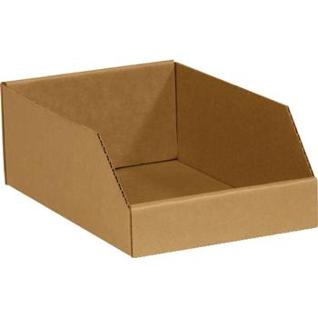 """W.B. Mason Co. Open Top Bin Boxes, 10"""" x 12"""" x 4-1/2"""", Kraft, 25/BD"""