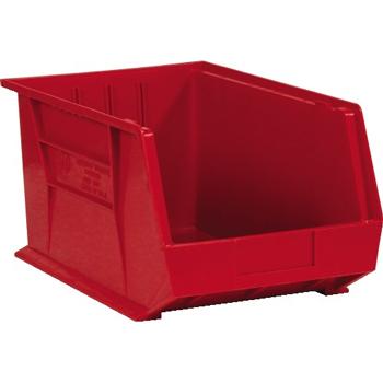 "Plastic Stack & Hang Bin Boxes, 5 3/8"" x 4 1/8"" x 3"", Red, 24/CS"