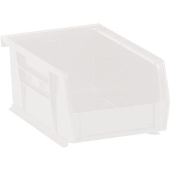 "W.B. Mason Co. Plastic Stack & Hang Bin Boxes, 7 3/8"" x 4 1/8"" x 3"", Clear, 24/CS"