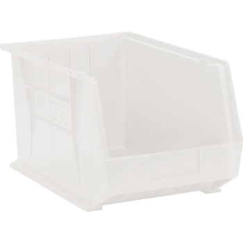 "W.B. Mason Co. Plastic Stack & Hang Bin Boxes, 10 3/4"" x 8 1/4"" x 7"", Clear, 6/CS"