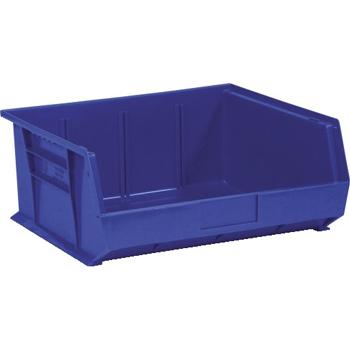 """W.B. Mason Co. Plastic Stack & Hang Bin Boxes, 14 3/4"""" x 16 1/2"""" x 7"""", Blue, 6/CS"""