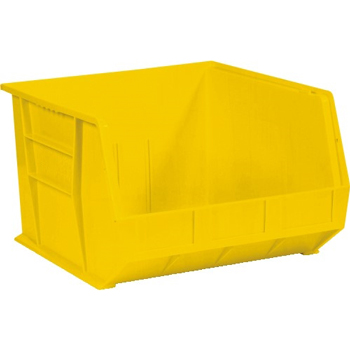 "Plastic Stack & Hang Bin Boxes, 18"" x 16 1/2"" x 11"", Yellow, 3/CS"