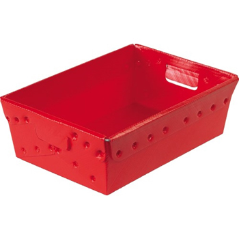 """Space Age Totes, 18"""" x 13"""" x 6"""", Red, 6/CS"""