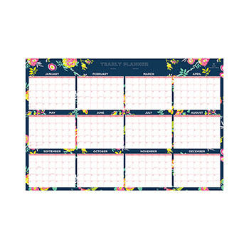 "Blue Sky™ Day Designer Laminated Wall Calendar, 36"" x 24"", 2021"