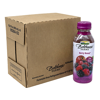 Bolthouse® Farms Berry Boost 100% Fruit Juice Smoothie, 15.2 oz, 6/PK