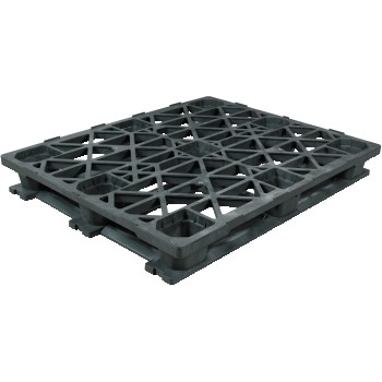 "W.B. Mason Co. Heavy-Duty Plastic Pallet, 48"" x 40"" x 5 9/10"", Black"