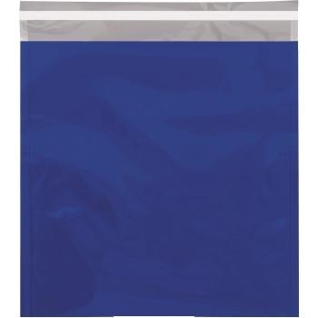 "W.B. Mason Co. Metallic Glamour Mailers, 10 3/4"" x 13"", Blue, 250/CS"