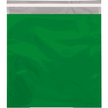 "W.B. Mason Co. Metallic Glamour Mailers, 10 3/4"" x 13"", Green, 250/CS"