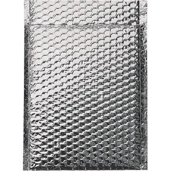 "W.B. Mason Co. Cool Shield Bubble Mailers, 10' x 10 1/2"", Silver, 100/CS"