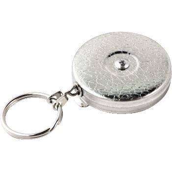 Original Retractable Key Holder, Chrome, 2/CS