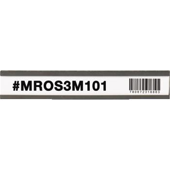 "W.B. Mason Co. Magnetic ""C"" Channel Cardholders, 1"" x 6"", Black, 25/CS"