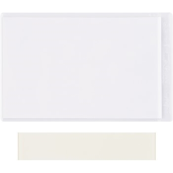 "W.B. Mason Co. Super-Scan® Press-On Vinyl Envelopes, 2"" x 3 1/2"", Clear, 50/CS"